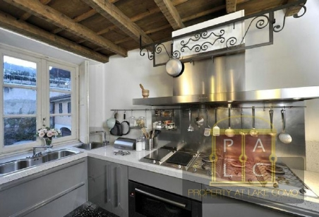 Kitchen of Villa Voltiana Lake Como Rentals
